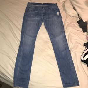 7 For All Mankind Jeans - 7 for all mankind distressed denim Roxanne size28